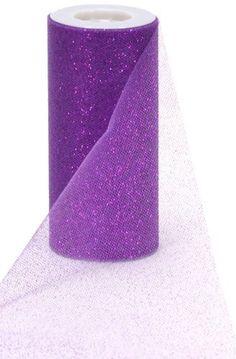 Offray Sparkle Tulle Craft Ribbon, 6-Inch by 25-Yard Spool, Purple by Offray, http://www.amazon.com/dp/B007H8JWK2/ref=cm_sw_r_pi_dp_msK5qb1MAK4H9