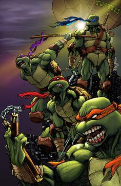 Teenage Mutant Ninja Turtles was one of Kerry Don's favorites!
