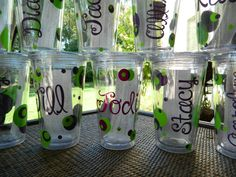 Love this for the girls...Bride and Bachlorette Party Gifts  Girls Weekend Mementos double wall insulated acrylic cups