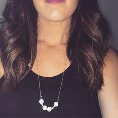 White bead Necklace  Snow Quartz Necklace  by daylightderived