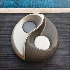 cool chair - a little ying and yang in your life-in the yard, next to the pool Mike needs to build@Christine Cullen