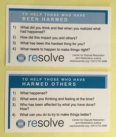 Restorative justice question cards are a great tool to keep in your school ID lanyard. #restorativepractices #rj #restorativejustice