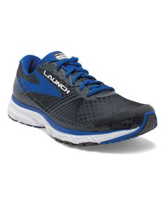 7181a8649fd Anthracite   Electric Blue Launch 3 Running Shoe