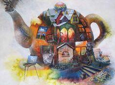 patchwork teapot