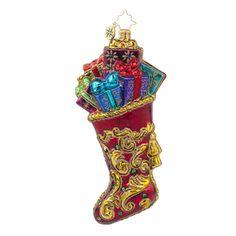 "Christopher Radko Ornament - ""Regal Stocking"""