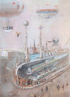 Alexander Labas - City of the Future. 1935.