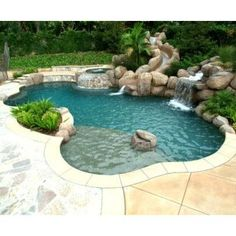 Inground pool, hot tub, and water slide -- oh, yes and a pool boy, please.