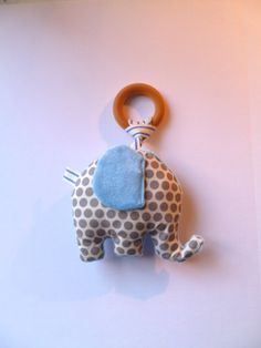 Organic baby toy plush wooden teething ring rattle crinkle toy