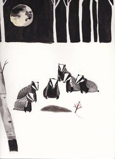 f451ce197 Dick Vincent   Badger Funeral Badger Illustration
