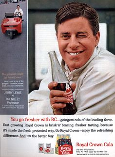 Jerry Lewis - Royal Crown Cola ad circa 1963