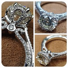 Sneak peek: Custom Couture-0429R #sparkles @Verragio, wooooow, I think this is the most beautiful ring I've ever seen.