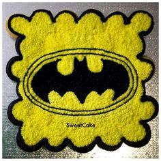 Batman logo cupcake cake