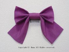 リボン髪飾り大きめ 若紫  #髪飾り #リボン #はいからさん #袴 #卒業式 #卒園式 #紫 #シンプル #コーム