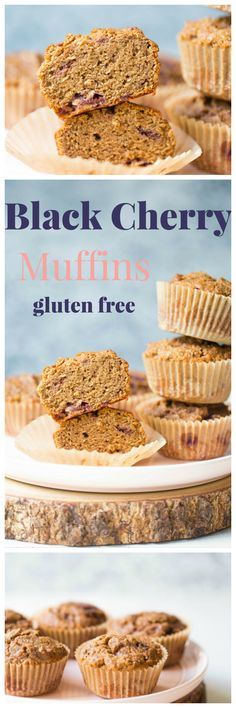 Classic gluten free teff flour muffins combined with cherries and blackberries…
