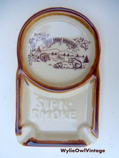 Vintage Smoky Mountains Sip N Smoke 1970s by WylieOwlVintage, $7.50
