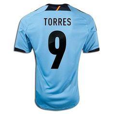 ADIDAS FERNANDO TORRES SPAIN AWAY JERSEY 2012/13 EURO 2012.