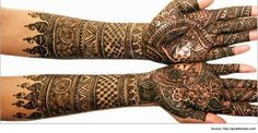 Beautiful Rajasthani Mehendi Designs for the Bride