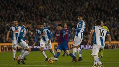 - Messi Skipping Past Six Espanyol Players to Create Saurez Goal -   FC Barcelona secured a comfortable win against Derby rivals Espanyol a...