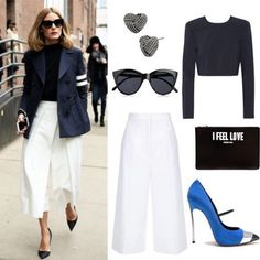 @oliviapalermo Monday Look!  Find it at: Top: Net-A-Porter.com Pants: Harrods.com Earrings: BetseyJohnson.com Glasses: VeryExclusive.co.uk Bag: Lindeleipalais.com Shoes: Casadei.com  #shoppingwithclaudia #claudiazuleta #fashionstylist #shopping #personalshopping #celebritystyle  #streetstyle #outfit #look #styletips#amazing #love #styletipsbyclaudia #fashion #fashionable #lookoftheday #trends #winter #fashionstyle #oliviapalermo #dkny #casadei #escada #givenchy #spring #springcollection