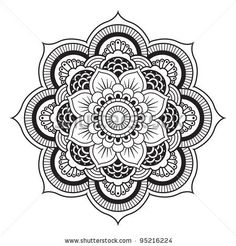 Ornamental Flowers. Vector Set With Abstract Floral Elements In Indian Style - 97491749 : Shutterstock