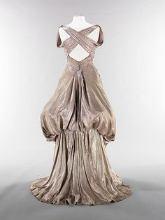 Evening dress (back view) Charles James  Date: ca. 1944 Culture: American Medium: silk, metal Accession Number: 2009.300.3486