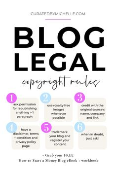 The number of bloggers facing life changing lawsuits over minor issues is unbelievably high. Check out these blog legal tips to learn how to copyright your blog and what you can do to protect yourself from paying a steep, hefty fine. PLUS click through to