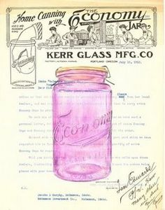 Great vintage mason jar ad and fantastic how-to guide to collecting article.