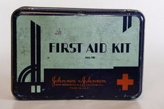 Metal First Aid Kit | Doctor | Johnson and Johnson | Antique | Hospital | Nurse | Medical | Tin by SecondsByJaneElaine on Etsy