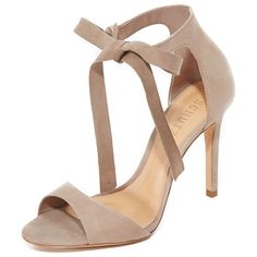Rene tie sandals by Schutz. Refined Schutz sandals in luxe nubuck. Wraparound ankle ties. Covered heel and leather sole. Leather: Cowhide. Import...