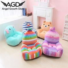 2016 New Arrival Character Baby Seats Sofa Colorful Pear Rabbit Easily Bear Children's Plush Beanbag Baby Sent Single Hole Floor(China (Mainland))
