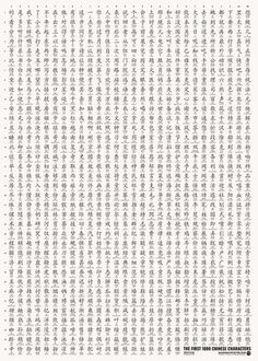 First and Second 1000 Posters — Mandarin Poster Chinese Language, Japanese Language, All Poster, Posters, Chinese Prints, Learn Chinese, Chinese Characters, Alphabet Letters, Tatt