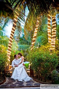 A tropical backdrop for your destination wedding. #ElDoradoRoyale #Mexico #destinationwedding