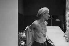 Andy Warhol Undressing for a Facial, Printed Photograph - Robert Levin - Collection