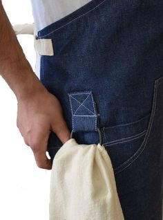 LUX ITALIA--work apron with loop for wipe cloth: