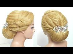 Easy Bun Hairstyle. Updo For Long Medium Hair Tutorial - YouTube