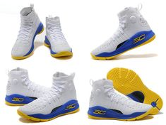 9bcffb02f06 2018 New Style Curry 4 Size US 7.5 10.5 9 Warriors Home Gold Blue