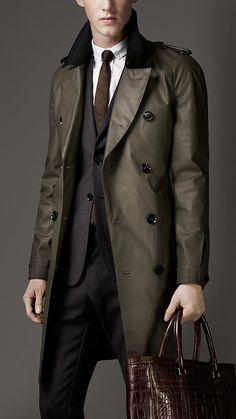 Burberry London Cotton Blend Raincoat