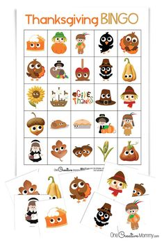Best Thanksgiving Bingo Game! - onecreativemommy.com