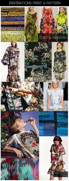 FASHION VIGNETTE: [ INSPIRATIONS PRINT + PATTERN ] KUKKA by Laura Luchtman - A/W 14-15 - TOILE