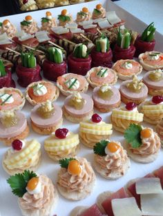 Appetizer Recipes, Appetizers, Party Sandwiches, Catering Food, Cafe Food, Canapes, Party Snacks, Tapas, Brunch