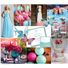 Color Inspiration Pink And Tiffany Blue This May Be A Little Too Blueish