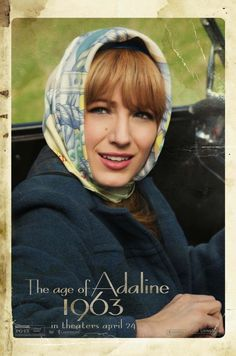 Blake Lively with a hair scarf // The Age of Adaline 1963