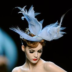 Stephen Jones bluebird for Dior
