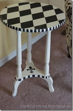 harliquin paint ideas | Harlequin table I would like to try painting old ... | Painting i...