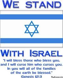 "I will bless those who bless you...I am not worried about Israel they have backup power....We call him The (3 in1) Tri-nity Heavenly Father God Head + ONLY Son Yeshua ""Jesus Christ+ Holy Spirit!!!..  Pray for the peace of Jerusalem (Psalms 122) Pray and believe in the name of Yeshua Jesus Christ and give our Heavenly Father all the glory forever as The Holy Spirit quickens, counsels and comforts us!!! By sharing this scripture you are actually blessing them!!!"