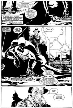 Batman . Dark Victory . by Tim Sale - Original Comic Strip http://en.2dgalleries.com/art/batman-dark-victory-20323