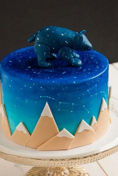 Starry night sky cake.