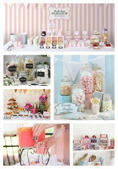 Pour une pause fraîcheur et gourmande, pensez aux bars ! #candybar #mariage #wedding #buffet #sucrerie #gourmandise #sucré  #citronnade