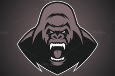 Angry gorilla logo ~ Illustrations on Creative Market