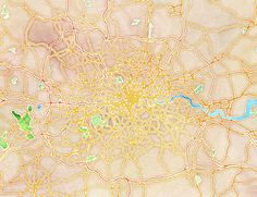 Watercolor London, by  Stamen Design - 20x200 (from 60.00 USD)